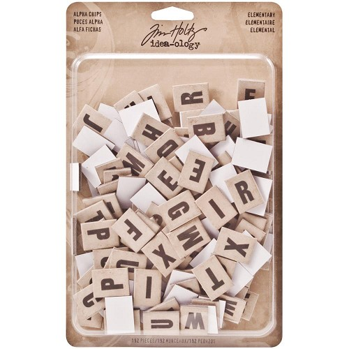 "44760 Idea-Ology Alpha Chips 192/Pkg Elementary .75""X1"" (TH93116)."