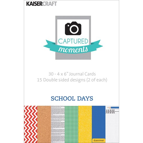 "44767 Kaisercraft Captured Moments Double-Sided Cards 6""X4"" 30/Pkg School Days."
