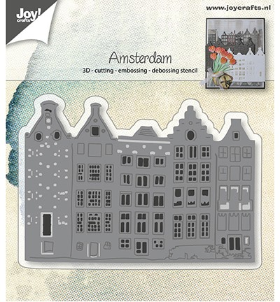 44823 Joy Crafts Cutting, Embossing & Debossing Hollandse Huizenrij (6002/0915).