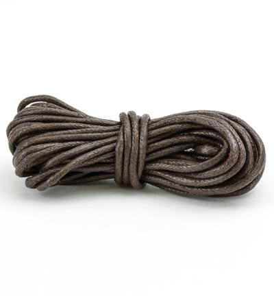 44859 Hobby & Crafting Fun Waxed Cotton Cord Brown 2mm x 5 Meter (12368-6810).