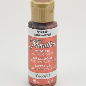44901 Deco Art Americana Dazzling Metallics Acrylverf Flesje 59 ML Royal Ruby (DA074).