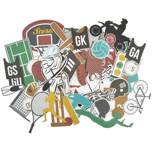 45113 Kaisercraft Game On! Collectables Cardstock Die-Cuts Equipment.