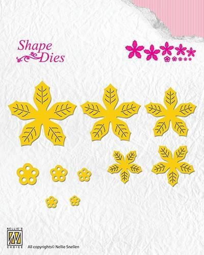 45220 Nellies Choice Shape Die - Poinsettia 49x51mm-39x41m (SD138).