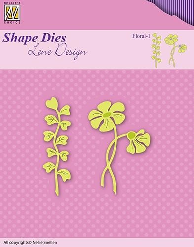 45222 Nellies Choice Dies Flowers & Leaves Floral-1 60x55mm (SDL049).