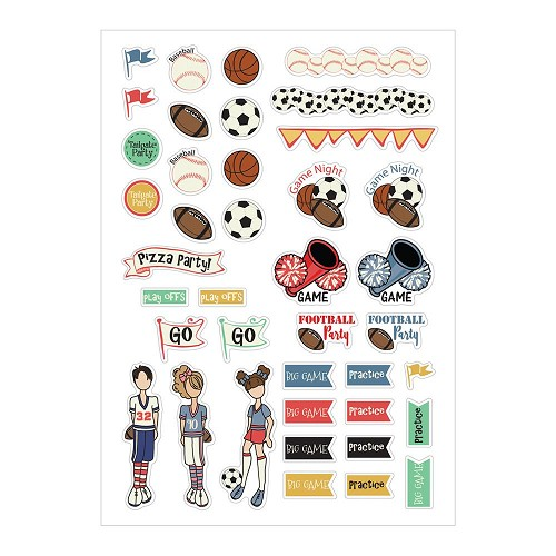 45236 Prima Julie Nutting Planner Stickers Sport (911973).
