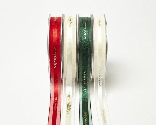 45243 May Arts Lint Merry Christmas Rood 18mm x1 Meter.