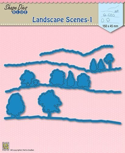 45276 Nellies Choice Shape Die Blue Landscape Scenes-1 150x45mm (SDB010).