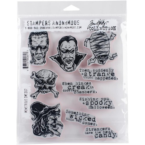 "45418 Tim Holtz Cling Stamps 7""X8.5"" Monstrous (CMS307).."