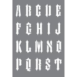 45482 Deco Art Stencil 15,2x22,8cm Chopper Alphabet.