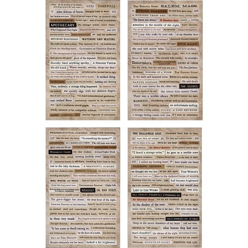 "45501 Tim Holtz Idea-Ology Clippings Stickers 5""X9.5"" Halloween (TH93619)."
