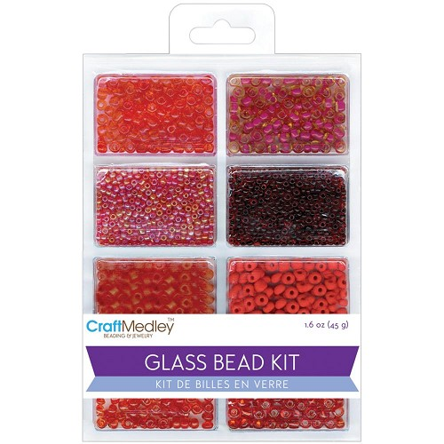 45514 Multicraft Glass Bead Kit (45 Gram) Rouge Classic.