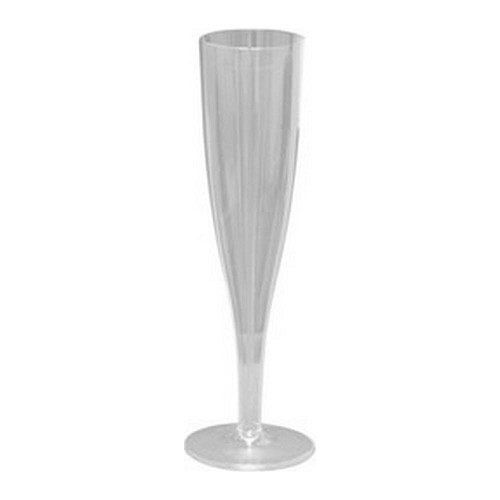 45525 Champagne Flutes 4/Pkg Clear Acrylic 140 ML.
