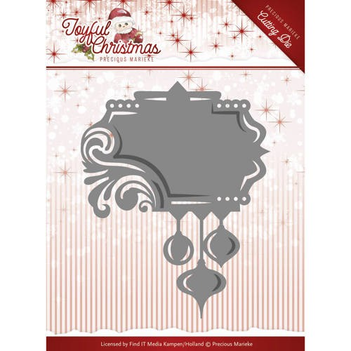 45565 Die-Precious Marieke - Joyful Christmas - Label Ornament (PM10107).