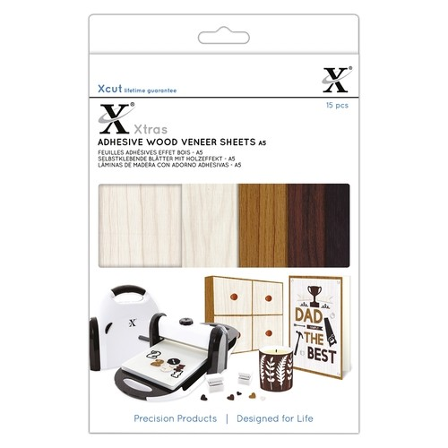 45608 Xcut Xtras` A5 Adhesive Wood Effect Sheets (15pcs).