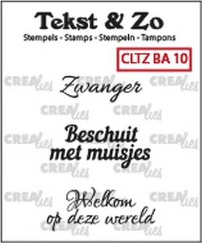 45632 Crealies Clearstamp Tekst&Zo Baby 10 (NL) 33 mm CLTZBA10.