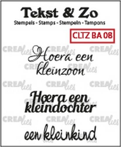 45634 Crealies Clearstamp Tekst&Zo Baby 8 (NL) 33 mm CLTZBA08.