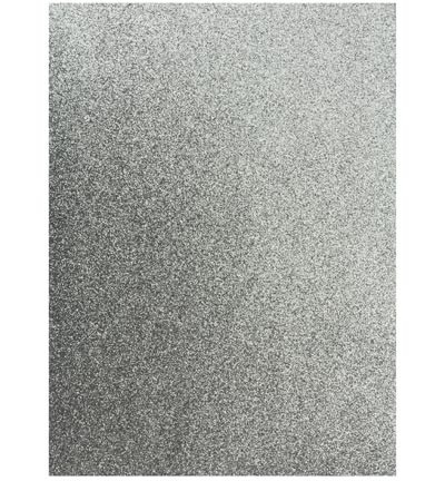 45866 EVA Glitter Foam Sheet Silver A4 1 Stuks 2mm (12315-1531).