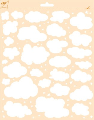 45875 Polybesastencil - Mixed Media - Wolken + Sterren (6002/0846).