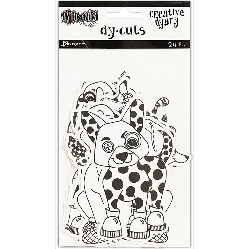 45911 Dyan Reaveley`s Dylusions Creative Dyary Die Cuts Black & White Animals.