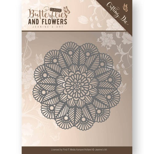 45956 Die - Jeanine`s Art - Butterflies and Flowers - Doily (JAD10022).