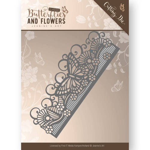 45958 Die - Jeanine`s Art - Classic Butterflies and Flowers - Butterfly Border (JAD10021).