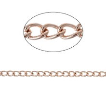 46162 Doemaar Rose Gold Ketting 5x3mm 1 Meter.