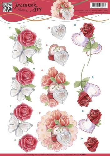 46210 (619) Jeanine`s Art - Roses and Hearts (CD10981).