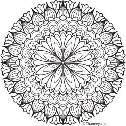 46239 Thaneeya® LLC Iron On Transfers 1/Pkg Flower Mandala 20x20 cm.