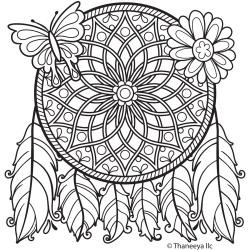 46240 Thaneeya® LLC Iron On Transfers 1/Pkg Dream Catcher 20x20 cm.