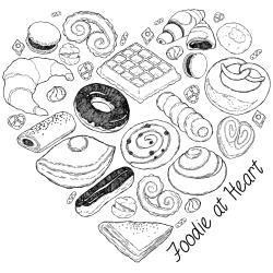 "46267 Gourmet Rubber Stamps Cling Stamps 3.375""X6.75"" Foodie at Heart."