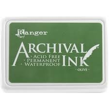 46319 Ranger Archival Ink Olive (AIP09146 ).