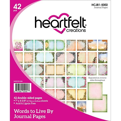 46329 Heartfelt Creations Journal Pages (17,75x21,25cm) Words To Live By (HCJB1-5002).