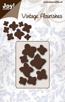 46405 Joy Crafts Cuttingstencil - Vintage Flourishes - Hydrangea (6003/0080).