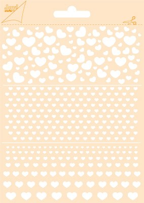 46413 Joy Crafts Polybesa Stencil - Hearts  (6002/0852).