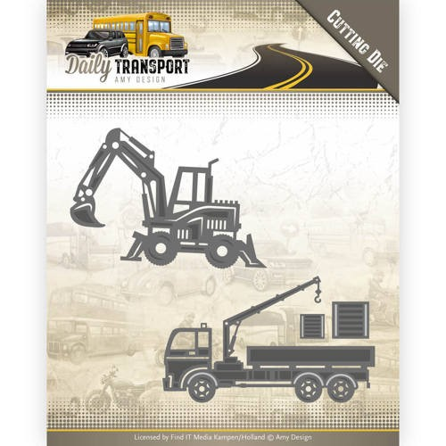 46478 Dies - Amy Design - Daily Transport - Construction Vehicles (ADD10133).