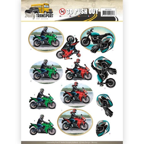 46484 Pushout - Amy Design - Daily Transport - Motor Cycling (SB10233).