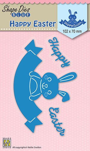 46628 Shape Dies Blue Happy Easter (SDB033).