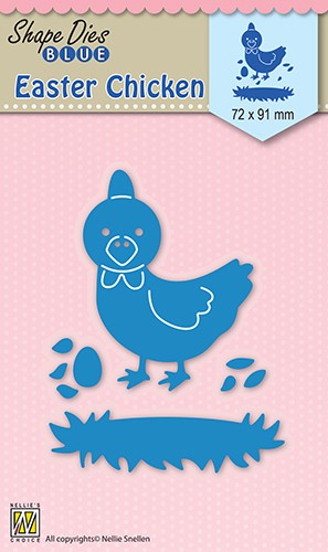 46630 Shape Dies Blue Easter Chicken (SDB030).