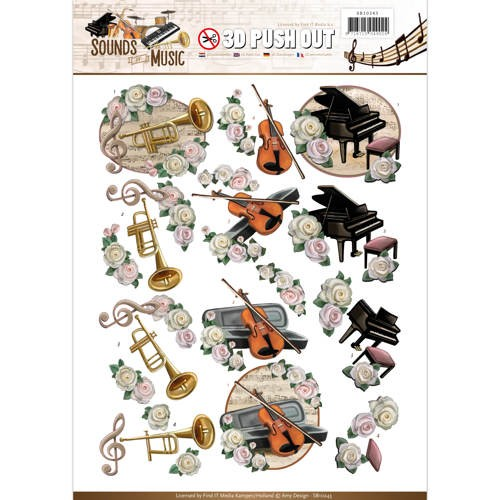 46680 Push Out - Amy Design - Sounds of Music - Classic (SB10243).
