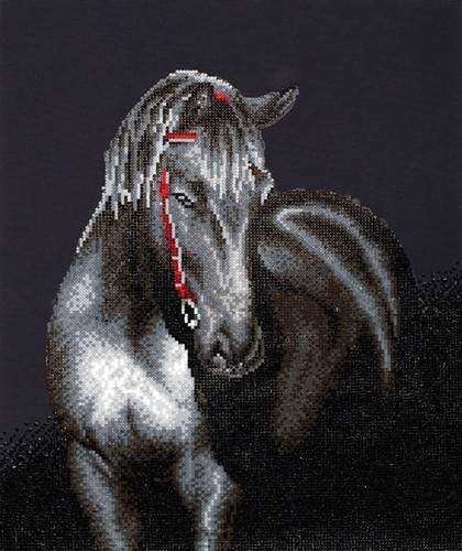 46682 DD10.012 Diamond Dotz® - 42 x 53cm - Midnight Stallion.
