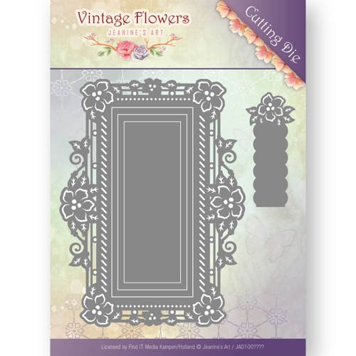 46720 Dies - Jeanine`s Art - Vintage Flowers -Floral Rectangle (JAD10035).