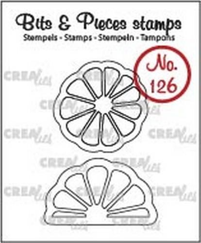 46742 Crealies Clearstamp Bits&Pieces no. 126 Citr.+Sinasappelplak CLBP126.