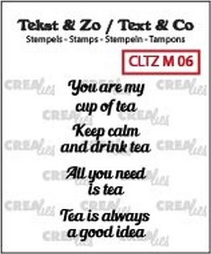 46746 Crealies Clearstamp Tekst & Zo Tiny text tea C (ENG) CLTZM06.