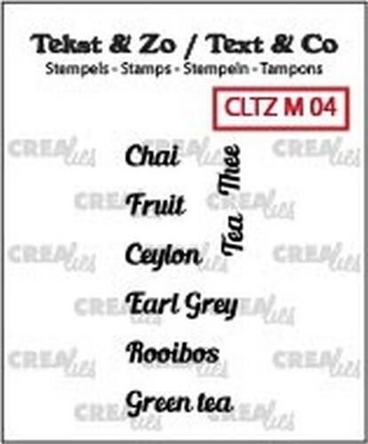46747 Crealies Clearstamp Tekst & Zo Tiny text tea A (ENG) CLTZM04.