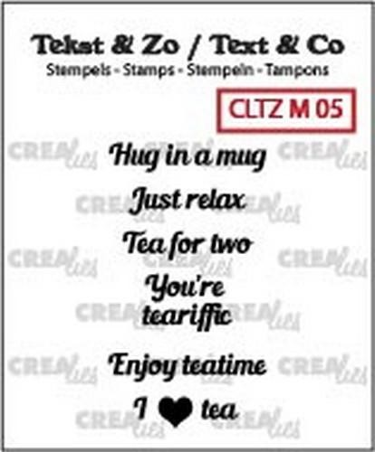 46749 Crealies Clearstamp Tekst & Zo Tiny text tea B (ENG) CLTZM05.