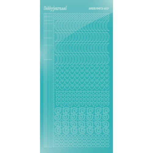 46850 Hobbydots sticker - Mirror - Emerald Serie 017.