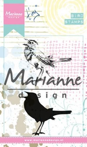 46855 Marianne Design Cling Stempel Tiny`s Birds 2 (MM1619).