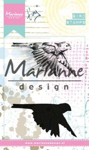46856 Marianne Design Cling Stempel Tiny`s Birds 1 (MM1618).