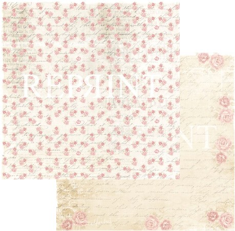 46885 Reprint Spring Blossom Collection 12x12 - 200 grams Roses for You.
