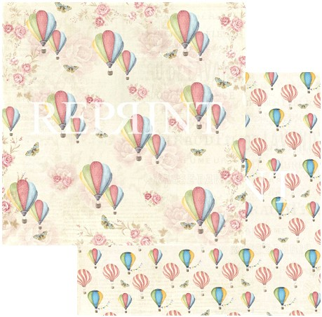 46886 Reprint Spring Blossom Collection 12x12 - 200 grams Up in the Air.